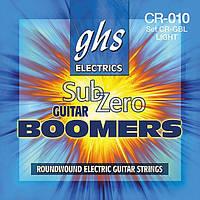 Струны для электрогитары GHS STRINGS SUB-ZERO BOOMERS SET CR-GBL