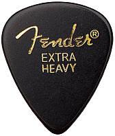 Медиатор FENDER 351 CLASSIC CELLULOID BLACK EXTRA HEAVY