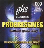 Струны для электрогитары GHS STRINGS PROGRESSIVES PRXL 09-42