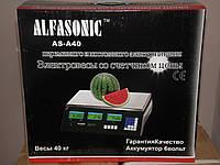Весы электронные торговые ALFASONIC AC-40 до 40 кг