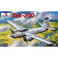 Сборная пластиковая модель самолета Як-200 (AMO72162) Масштаб:  1:72