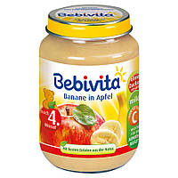 Bebivita  Früchte: Banane in Apfel - Пюре фруктовое: банан-яблоко 190 г,  с 4-го мес.