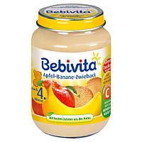 Bebivita  Frucht & Getreide: Apfel-Banane-Zwieback - Фрукты и Зерновые: яблоко-банан-сухари 190 г, с 4-го мес.