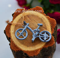 """Кулон """"Велосипед"""". Серый"""
