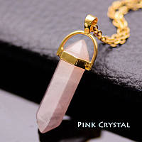 "Кулон ""Натуральный камень. Розовый кристалл"""
