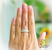 """Кольцо """"Королевская корона"""". Серебро 925 проба. Размер 17"""