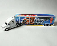 Машинка трейлер грузовик с прицепом Kenworth T700 белый