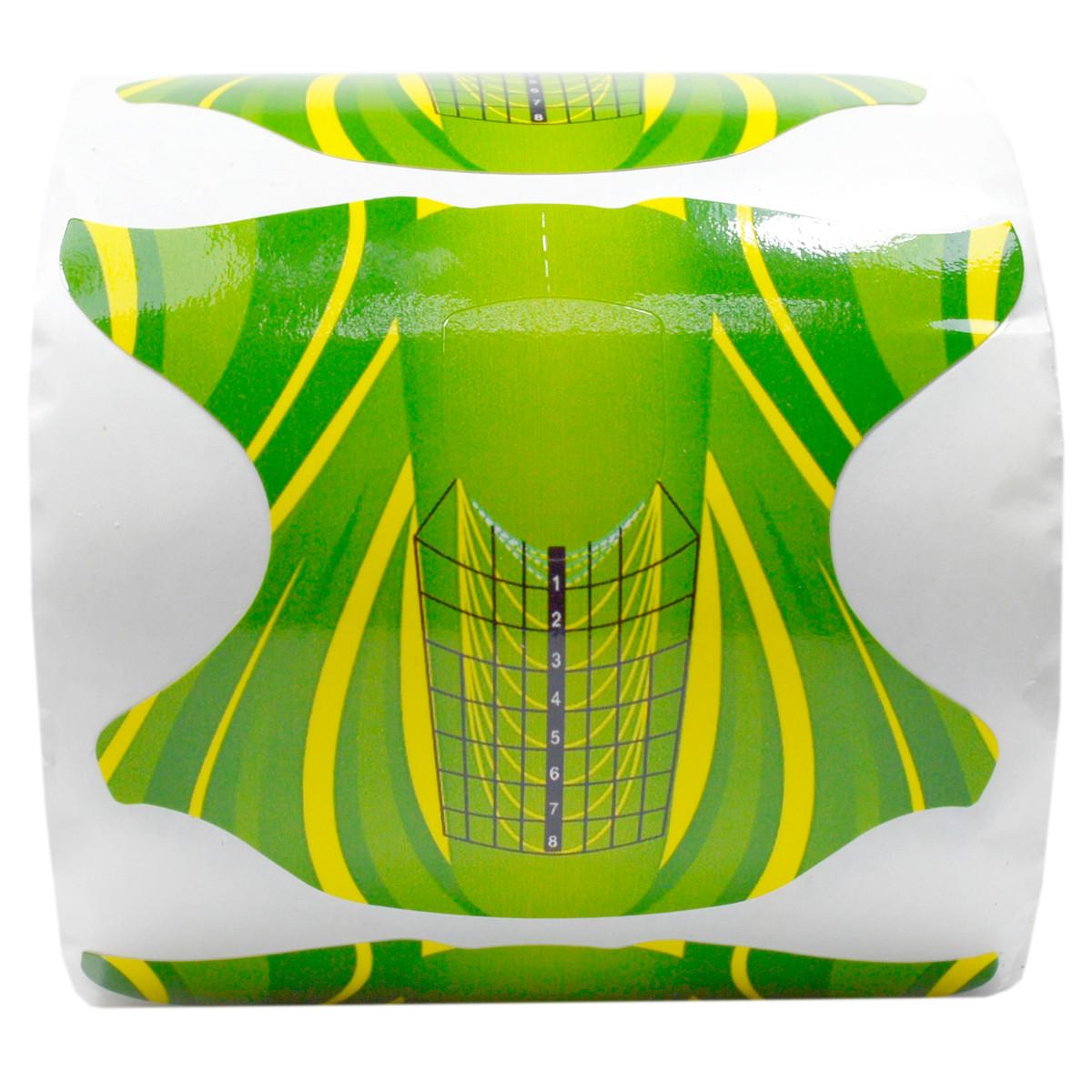 Новинка!Форма для наращивания ногтей(желто-зеленые) 300 штук