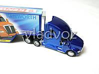 Машинка трейлер грузовик с прицепом Kenworth T700 синий