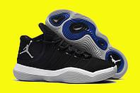 Баскетбольные кроссовки Jordan Super.Fly 2017 Black/White Реплика, фото 1