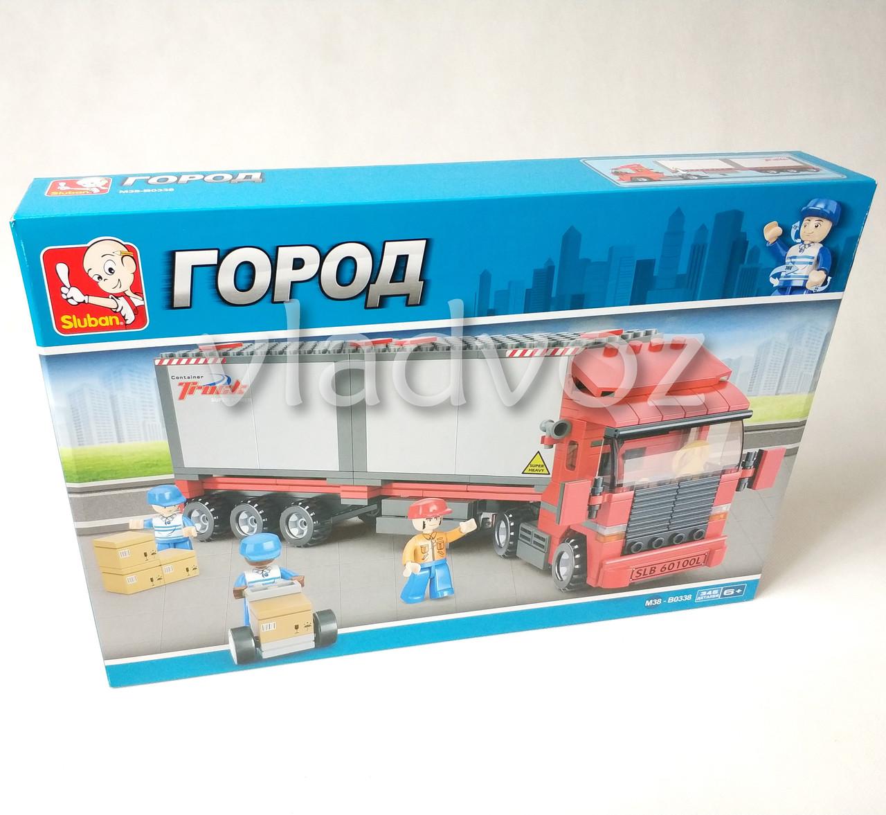 Игровой конструктор машинка грузовик трейлер Truck