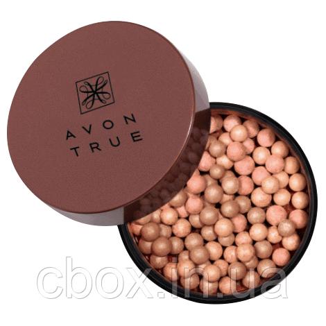Румяна-шарики для лица и тела, Avon True, цвет Cool, Glow Bronzing Pearls, Эйвон, 71220
