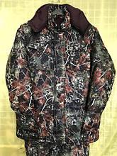 """Костюм зимний (длинная куртка) """"Сосновый лес"""", ткань гладкая алова. рр 48"""
