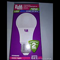 Лампа светодиoдная ELM 12W Е27 4000К