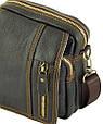 Мужская кожаная сумка через плечо Traum 7172-10 коричневый, фото 5