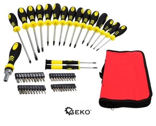 Набор отверток 59 элементов GEKO G30558