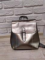 """Женский кожаный рюкзак-сумка (трансформер) """"Милла Silver"""", фото 1"""