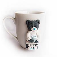 Подарок на новый год Сувенирная кружка с декором мишка Тедди