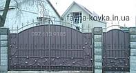 Ворота кованые закрытые 777