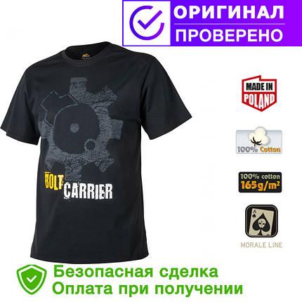 Мужская хлопковая футболка T-Shirt Helikon Bolt Carrier - Black (TS-BCR-CO-01), фото 2