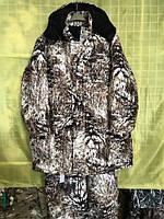 "Костюм зимний (длинная куртка) ""Снежный лес"", ткань алова. рр 48"