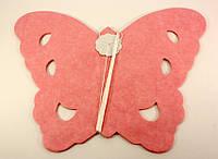 """Гирлянда-растяжка """"Бабочки"""" 300см розовый 8432"""