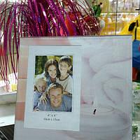 Фото рамка Розовая Свеча Стекло 10*15