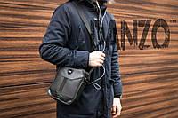 Мужская кожаная сумка через плечо Nike Formula, фото 1