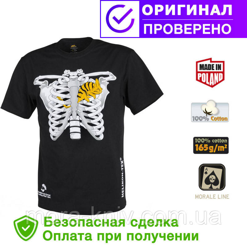 Мужская хлопковая футболка Helikon T-SHIRT (CHAMELEON IN THORAX) Black L (TS-CIT-CO-01)