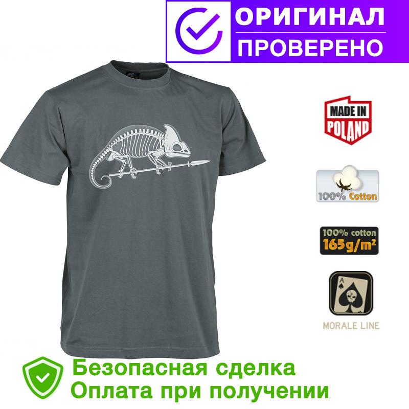 Мужская хлопковая футболка Helikon Chameleon Skeleton Shadow Grey (TS-SKC-CO-35)