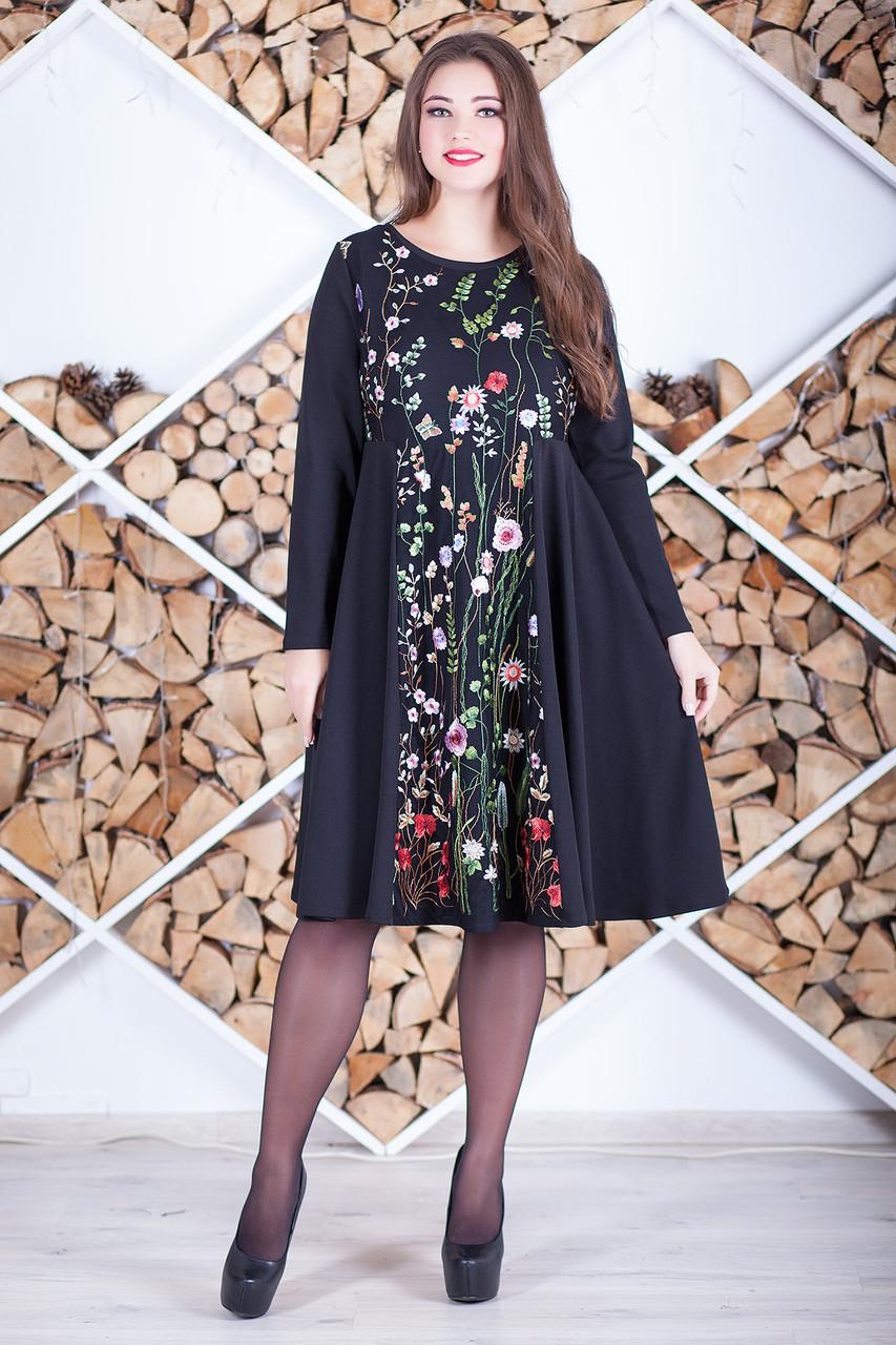 Элегантное нарядное платье больших размеров