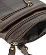Мужская кожаная сумка планшет Traum коричневая, фото 4