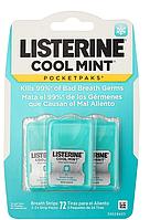 Полоски для освежения дыхания, Listerine PocketPaks Breath Strips, Cool Mint, 72 пластинки