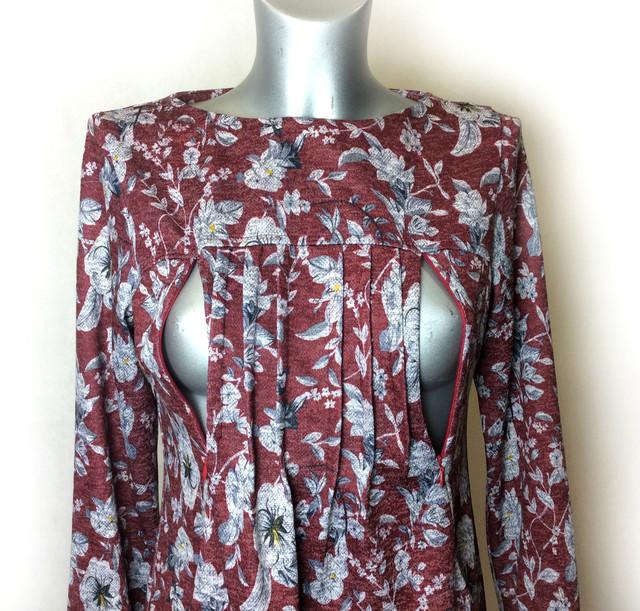 Платье с карманами для беременных и кормящих П57