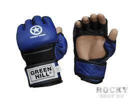 Перчатки для боевого самбо исскуственная кожа р.S синий GREEN HILL