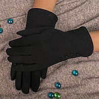 Женские элегантные перчатки на меху с вышивкой и бисером Ronaerdo A-17 7,5