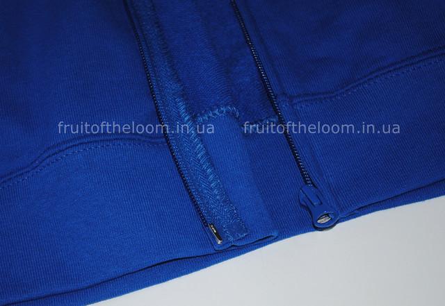 Ярко-синяя мужская лёгкая кофта на замке