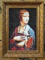 """Вышитая картина Леонардо да Винчи """"Дама с горностаем"""""""