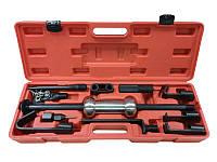 Комплект приспособлений для кузовных работ с обратным молотком, 11пр. в кейсе