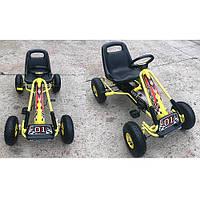 Детская педальная машина веломобиль Карт M 0645-6