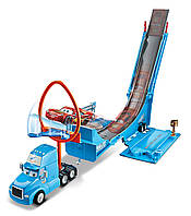 Трек Хот Вилс Грей транспортер Disney/Pixar Cars Drop and Jump Gray Playset