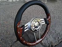 Руль спортивный №911 с переходником на ВАЗ 2105., фото 1