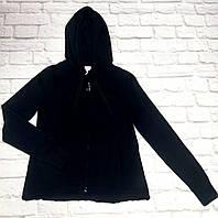 Черная кофта с капюшоном Deha