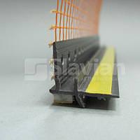 Профиль ПВХ приоконный, 6мм с сеткой 2,5м черный (графит)