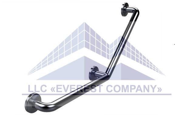 Поручень для инвалидов усиленный  пристенный угловой, Ø 32мм - 350х350мм