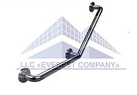 Поручень для инвалидов усиленный пристенный угловой, Ø 20мм - 350х350мм