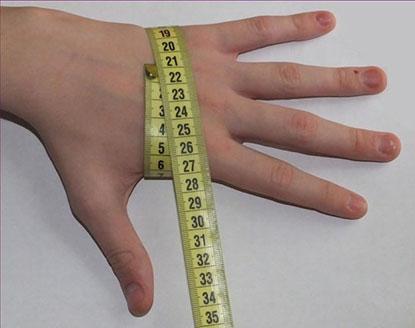 измерение обхвата ладони