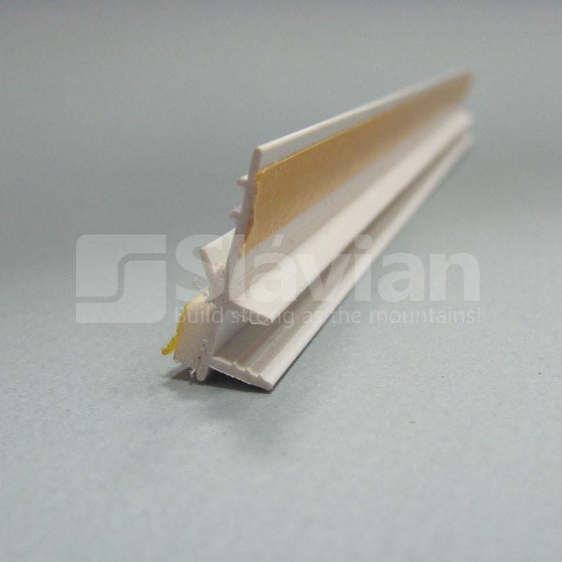 Профиль ПВХ приоконный без сетки, 6мм - 2,5м (белый)