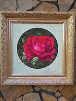 "Вышитая картина ""Бархатная роза"""
