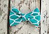 Галстук-бабочка, бирюзовая геометрия